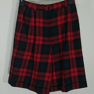 Shorts walking Tartan wool lined pockets red plaid